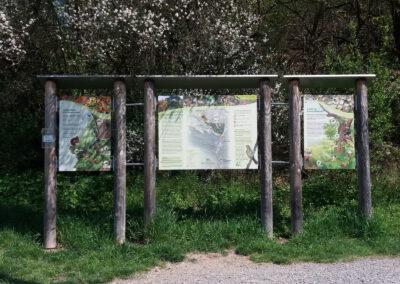 Infoständer am Eichberg