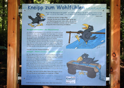 Infotafel am Nordic-Walking-Pfad Balve