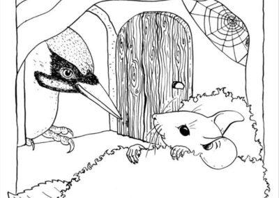 Maus im Bett