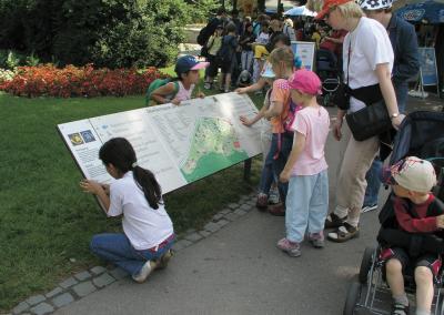 Übersichtskarte Pulttafel, Besucherlenkung